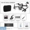 أسود 4K كاميرا + حقيبة محمولة