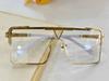 Altın Çerçeve Temizle Lens