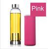 Cup 420ml com manga rosa