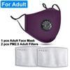 Взрослый Фиолетовый с 2 Фильтры