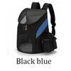 الأسود والأزرق حقيبة الظهر-L