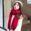 Cashmere rosso jujube addensato da 200 x 70 cm
