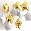 Золотая белая звезда-5 шт.