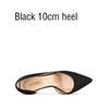 Черный 10см каблука