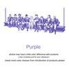 Púrpura-161cm x 70 cm