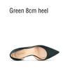 Темно-зеленый 8см каблука