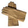 Бежевый Кожаный Женские перчатки