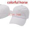 Renkli at ile beyaz