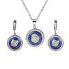 Azul de prata Set China