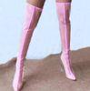 Lange Stiefel rosa.