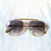 gold frame Gradient grey lens