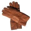 Оранжевый Кожаный Женские перчатки