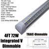 Regulable los 4Ft 72W V tubo en forma Clear