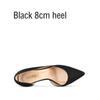 Черный 8см каблука