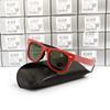 Kırmızı Siyah Çerçeve Yeşil Lens 50mm