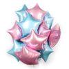 Светло-голубая розовая звезда-10 шт.