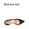 Черный 6см каблука