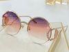 Gold frame gradient purple lens