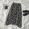 Jupe florale noire