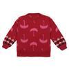 Красный вязаный пуловер
