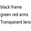 green red arms clear lens