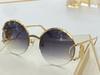 Gold frame gradient gray lenses