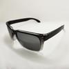 Gloss black white frame silver lens