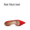 Красный 10см каблука