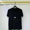 schwarz mit weißen Buchstaben T-Shirt