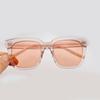 Clear Pink frame gradient pink lenses