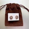 Rose gold with pouch