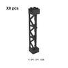 8pcs Pillar Siyah