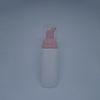 زجاجة بيضاء + مضخة وردية