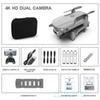 Grau 4K Doppelkamera + Beutel + 1 * Batterie