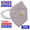 Maschera rosa con un Vavle