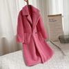 Abrigo de peluche rosa