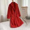 Abrigo de peluche rojo
