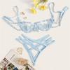 Mavi iç çamaşırı seti