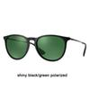 601 / 2P brilhante preto / verde polarizado