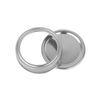 70mm tampas + faixas de 70mm (prata)