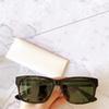 العنبر إطار العدسة الخضراء الساقين أبيض أسود