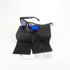 matte black frame blue lens