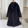 Abrigo de peluche negro