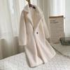 Abrigo de peluche blanco