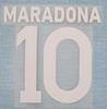 87 88 Napoli Maradona font