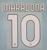 20 21 Napoli home Maradona font