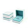 Caja de anillo azul