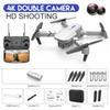 Weiß 4K Doppelkamera + Portable Tasche
