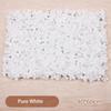 Blanc-1pc pur 60cmx40cm
