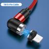 Rotes 8-poliges Kabel